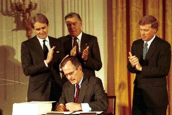 Signing ceremony for Clean Air Act Amendment