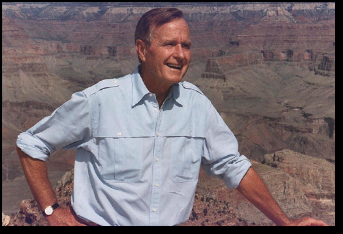 President Bush at the Grand Canyon