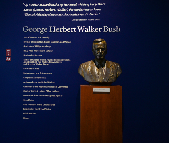 Bust of George Bush