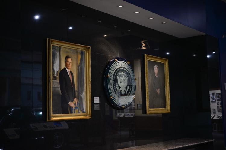 portraits of George and Barbara Bush